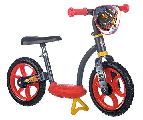Smoby Toys, 770104, Cars,  Draisienne Enfant avec Roues Silencieuses, Siège Réglable, Béquille Intégrée