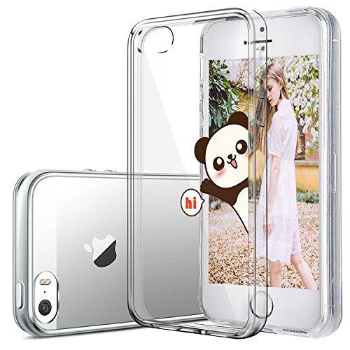 APPLE IPHONE SE 5 5S Hülle Pacyer ® Weich Silikon TPU Schutzhülle Ultradünnen Case für Apple iPhone 5 /5S/SE Schutz Hülle ( Mädchen Häschen) (1) 3