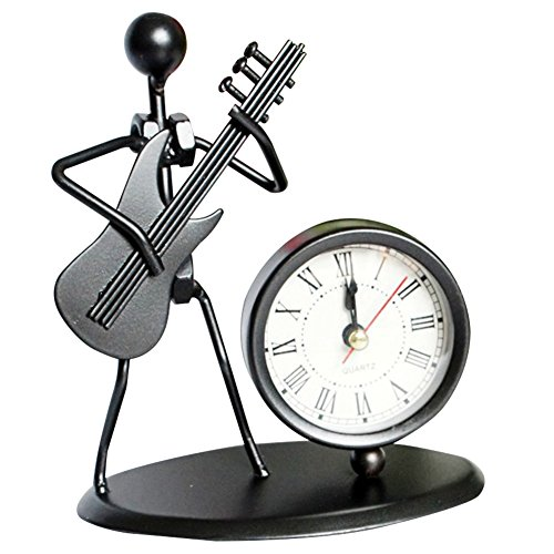 Zantec WeckerMusikinstrument Handwerk kreative Metall Iron Man Clock als Dekorationen