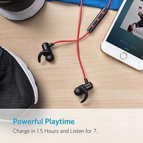 Anker SoundBuds Slim Bluetooth Kopfhörer Kabellos und Magnetverschluss, Wasserfest Sport Headset mit Mikrofon für iPhone, iPad, Samsung, Nexus, HTC und mehr(Rot) - 4