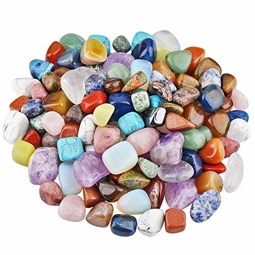 sunyik Tumbled pulido piedra, cristal de roca suave para Tumbling, Cabbing, 0,45kg (aproximadamente 460G)