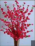 ZJJZH Artificiale Fiori Decorativi Simulazione Fiore di pesco Ramo Ramo di ciliegio Prugna Fiore Ramo Secco Fiore Decorazione di Nozze Fiore Finto Fiore di plastica Artificial Flower Orb