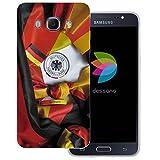 dessana Fußball WM Weltmeisterschaft transparente Silikon Schutzhülle dünne Handy Tasche Soft Case für Samsung Galaxy J5 (2016) Fußball Fan Artikel