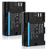 Blumax 2X Akku für Canon LP-E6N LPE6N (Echte 2040mAh) mit Infochip - XC10 XC15 EOS 60D 70D 80D 5D Mark I Mark II Mark III IV 6D Mark I II 7D Mark I II