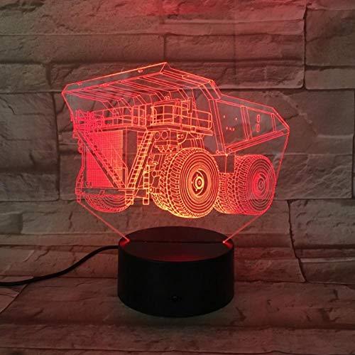 3D Optische Illusions-Lampen Lkw 7 Farben Einzigartige Lichteffekte Usb Power Touch Tischlampe Beste Geburtstagsgeschenke Für Jungen Mädchen Kinder Baby - Jungen Wie Lkw-lampe