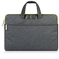 G7Explorer Water-resistant Laptop Sleeve Case Bag Portable Computer handbag For Apple Macbook Air and other Notebook 11.6 inches Deep Gray & Green Zipper - Gun Bag Neoprene