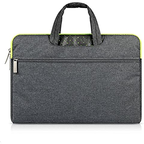 G7Explorer Water-resistant Laptop Sleeve Case Bag Portable Computer handbag For Apple Macbook Air and other Notebook 11.6 inches Deep Gray & Green