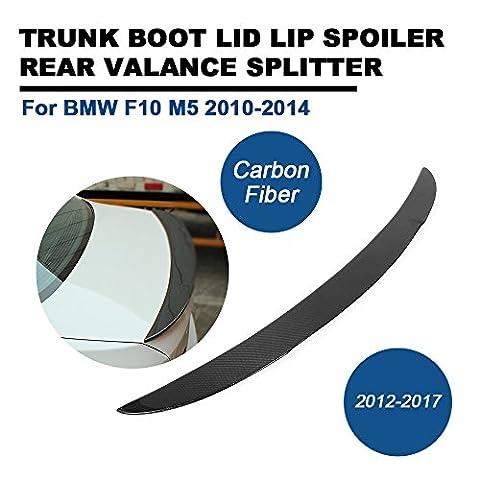 Fibre de carbone Spoiler pare-chocs arrière pour BMW F10M52010–2014Tgfof tronc Couvercle lèvre d'aile