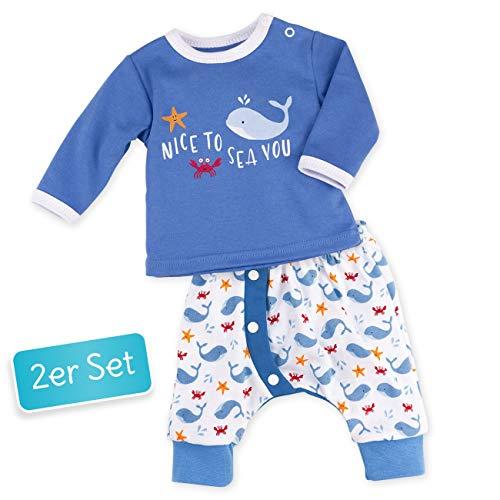 Baby Sweets Baby Set Hose + Shirt Jungen blau | Motiv: Nice to Sea You | Babyset mit 2 Teilen für Neugeborene & Kleinkinder | Größe 3 Monate (62) -