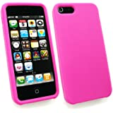 Emartbuy ® Apple Iphone 5 5G Silikon Skin Cover / Case Hot Pink