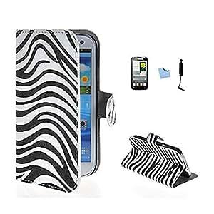 ARTLU® Wallet Flip Case Cover Housse Portefeuille Etui Pour Coque Samsung Galaxy Grand Neo (GT-i9060, GT-i9060DS, GT-i9060L) , Stylus et Film protecteur inclus A2