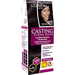 Loreal Paris Casting Creme Gloss Shade, Darkest Brown, 21g+24ml