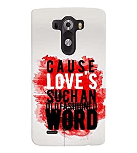printtech Cause Quote Back Case Cover for LG G3::LG G3 D855