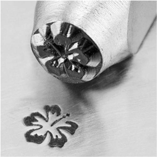 Impress Art Metal Punch Stamp 'Hibiscus' 6mm