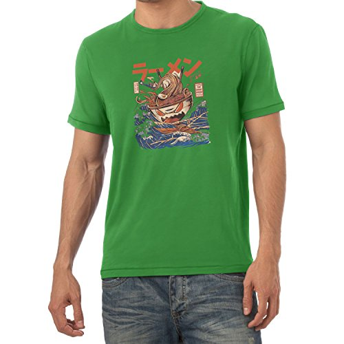 NERDO - The Great Ramen - Herren T-Shirt Grün