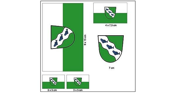 Aufkleber Set Ansbach Fahne Flagge Auto