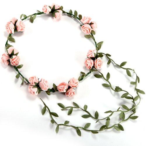 Akord Boho florale de Rose Guirlande Couronne de fleurs