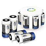 RCR123A Akku Arlo Batterien, Keenstone 3.7V 750mAh Lithium CR123A Wiederaufladbare Batterie for Netgear Arlo Camera (8 Stück)