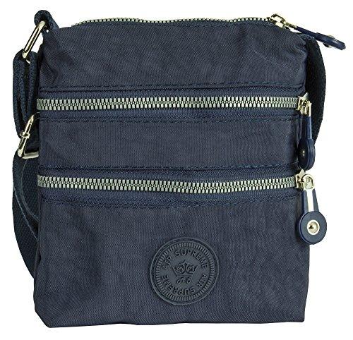 Big Handbag Shop , Damen Henkeltasche Style 1 - Navy