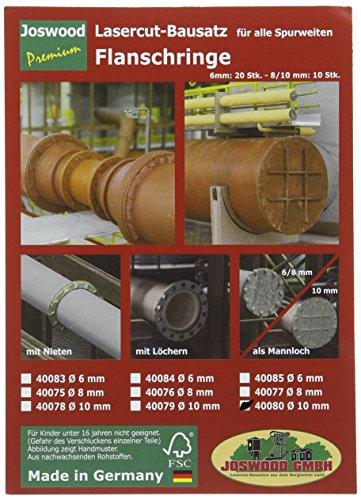 Preisvergleich Produktbild joswood 4008010mm Laser Cut Welt Schachtdeckel