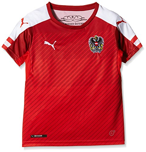 PUMA Kinder Trikot Austria Home Replica Shirt Red/White, 140