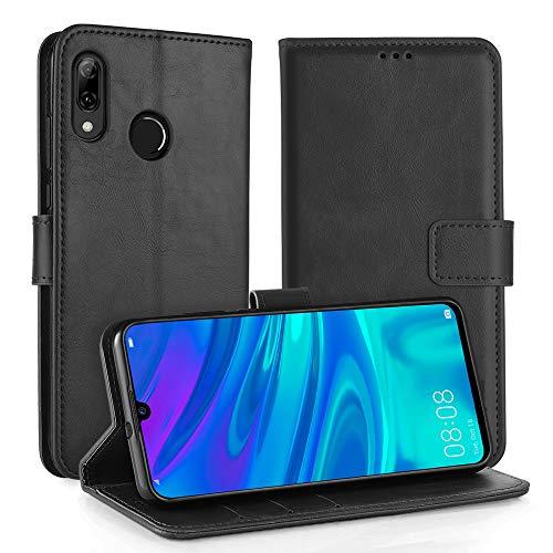Simpeak Ersatz für Huawei P Smart 2019 Hülle/Honor 10 Lite Hülle Schwarz [6,21 Zoll], Case Cover handyhülle für Huawei P Smart 2019 flipcase [Kartensteckplätze] [Stand Feature]