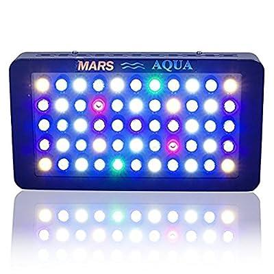 Marshydro Marsaqua Dimmable 165W LED Lampe d'aquarium d'éclairage Spectre complet pour les poissons d'eau douce et d'eau de mer Corail Réservoir Bleu et blanc LPS/SPS