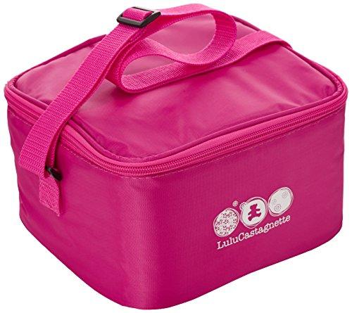 Lulu Castagnette - 5THS006LF - Bento, Set porta-pranzo, incl. borsetta, contenitore in plastica con posate, contenitore porta liquidi, Fucsia
