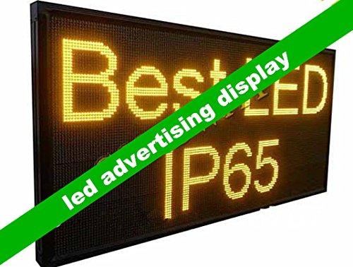 Gowe Outdoor LED Werbung Display Bildschirm mit Gelb Farbe und Größe 8,9x 87,9x 167,9cm -