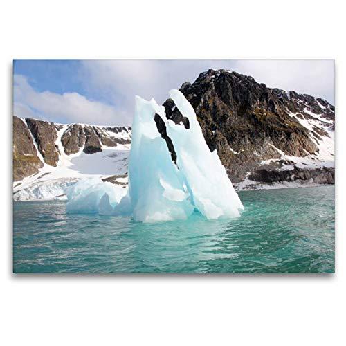Calvendo Premium Textil-Leinwand 120 cm x 80 cm quer, EIN Motiv aus dem Kalender Schönes Svalbard | Wandbild, Bild auf Keilrahmen, Fertigbild auf echter Leinwand, Leinwanddruck Natur Natur