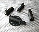 Pack 1–3Sets, einzigen Gehäuse Glas Tür. Magnetverschluss/Pivot Scharnier/counterplates. Mit Befestigungsmaterial. Satin schwarz. 1x Pivot Hinges/Pull Counterplate/BLACK Catch