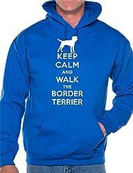 Keep Calm Walk Border Terrier Dog Lovers Hoodie Size S-XXL