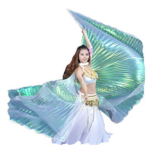 Wings Kostüm für Bauchtanz Für Weihnachtsfeier, Dance Fairy Bauchtanz - Rock und andere Accessoires Nicht enthalten (2,Split + Stick) ()