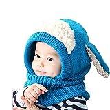 Winter Baby Hüte, Zolimx Kinder Mädchen Boys Warm Wolle Coif Hood Schal Caps (Blau)