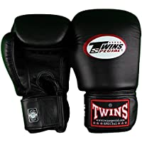 Twins Special Muay Thai Boxing Gloves BGVL-3 Black 8-10-12-14-16 Oz. (14 Oz.) by Twins special