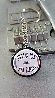 Porte Clé J'peux pas J'ai Rugby