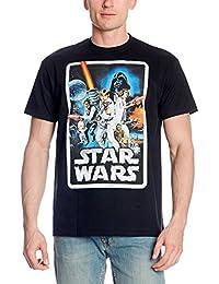 T-shirt poster Guerre des Etoiles rétro Elbenwald noir