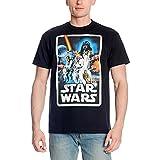 Póster de Star Wars Retro Camiseta de los anillos de bosque negro negro M