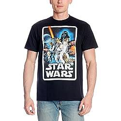 Star Wars Retro Poster T-Shirt von Elbenwald schwarz - M