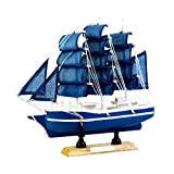 MagiDeal Nautische Schiffsmodell Piratenschiff aus Holz, Büro Arbeitszimmer Deko - FJ20C7, 20cm