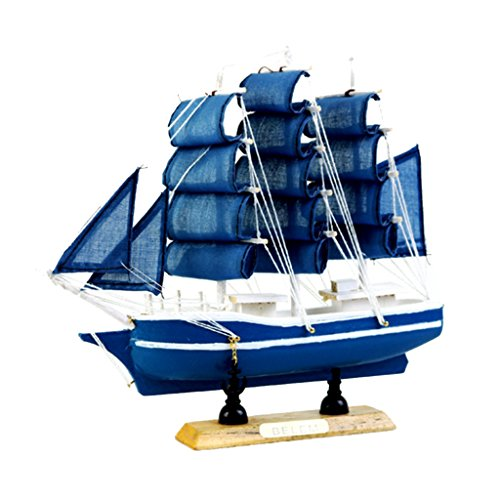 MagiDeal Nautische Schiffsmodell Piratenschiff aus Holz, Büro Arbeitszimmer Deko - FJ20C7, 20cm (Bausatz Holz-piratenschiff)