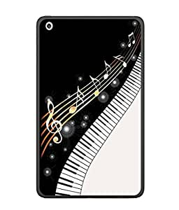 PrintVisa Designer Back Case Cover for Apple iPad Pro 12.9 (musical notes with piono sparkle)
