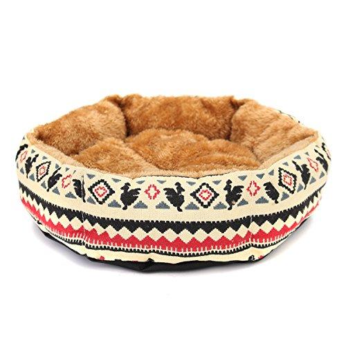 Tutoy 40Cm Haustier Hund Katze Kätzchen Bett Weich Kissen Warm Kennel Mat Pad Deck-Gelb (Kennel Deck)
