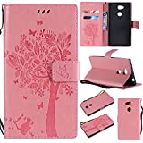 COZY HUT Sony Xperia L2 Case Leather [Pink], Pu Leather
