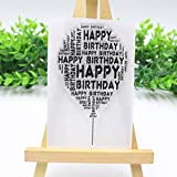 ECMQS Happy Birthday Balloon DIY Transparente Briefmarke, Silikon Stempel Set, Clear Stamps, Schneiden Schablonen, Bastelei Scrapbooking-Werkzeug