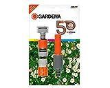 Gardena Grundausstattung Jubiläumsedition Wasserspritze, Grau/orange, 24.3 x 18 x 4.1 cm