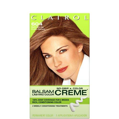 Clairol Coloration capillaire permanente en crème liquide Balsam Color - Couleur 604 - Blond foncé