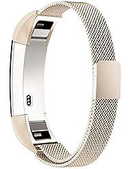 Fitbit Alta HR Armband,Fitbit Alta Armband,Simpeak Edelstahl Ersatzzubehör Metallband Band Straps für Fitbit Alta und Fitbit Alta HR