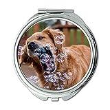 Yanteng Spiegel, Schminkspiegel, Pudel Hund Hund Download, Taschenspiegel, 1 X 2X Lupe