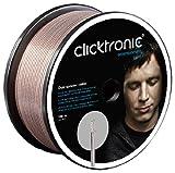 Clicktronic Advanced Câble haut-parleur double (câble 2 x 4,0 mm² avec mélange de tresses en cuivre pur et de tresses plaquées argent) 100 m